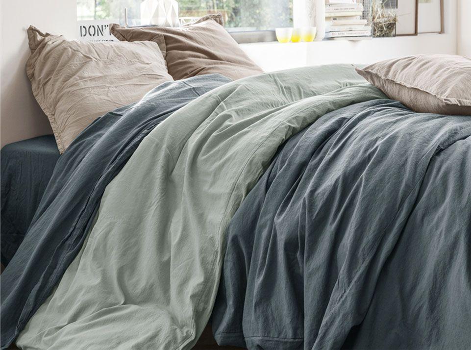 linge de lit coton et lin